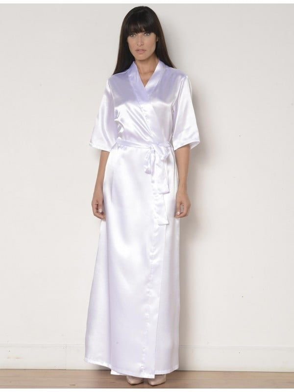 Robe Feminino Longo em Cetim - AP18