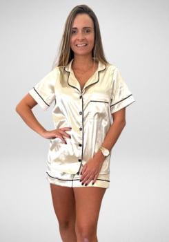 Pijama Feminino em Cetim com Elastano - AE24